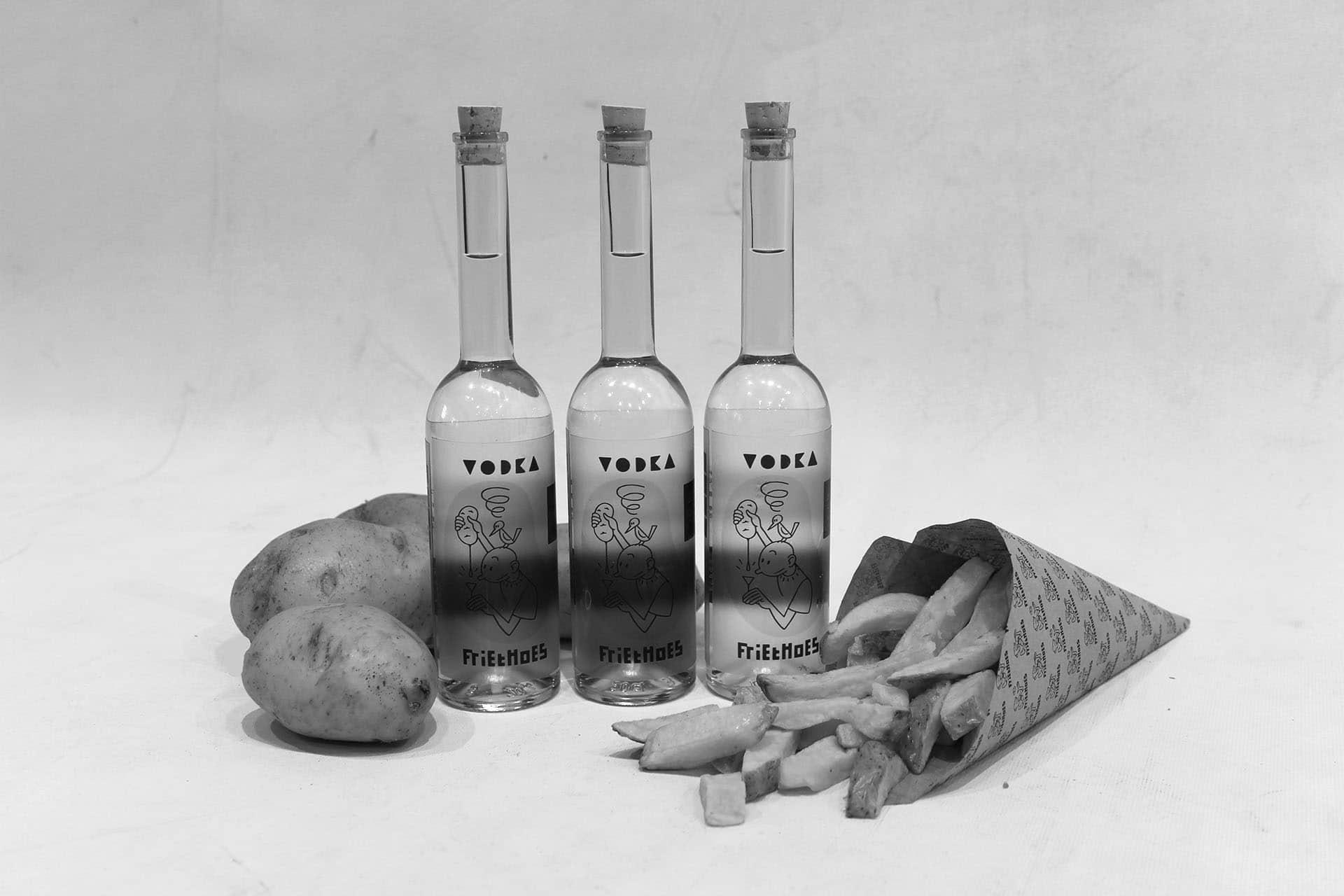 FrietHoes vodka van aardappelresten